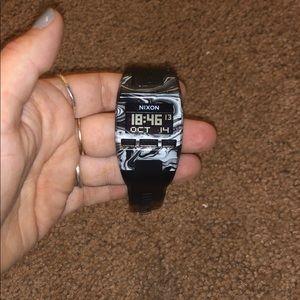 Nixon black marble watch